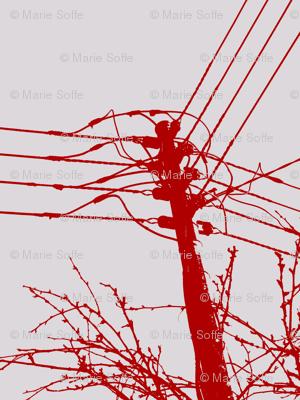 Telephone Tease Linen Red