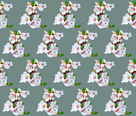 Spring Blossoms Quilt Center or Pillow fabric by artbylindalou on Spoonflower - custom fabric