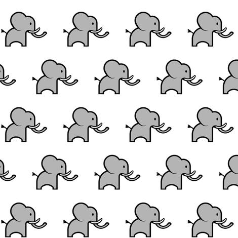 Small Cute Elephant fabric by mandollyn on Spoonflower - custom fabric