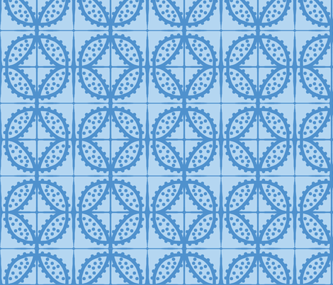 Spotty Pod-like Tile! (sky blue & deep sky blue) fabric by pattyryboltdesigns on Spoonflower - custom fabric