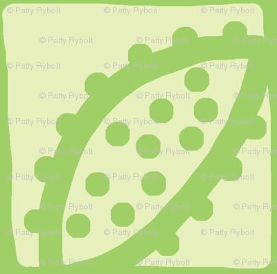 Spotty Pod-like Tile! (lemon-lime & lime)