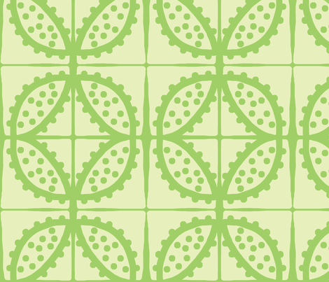Spotty Pod-like Tile! (lemon-lime & lime) fabric by pattyryboltdesigns on Spoonflower - custom fabric