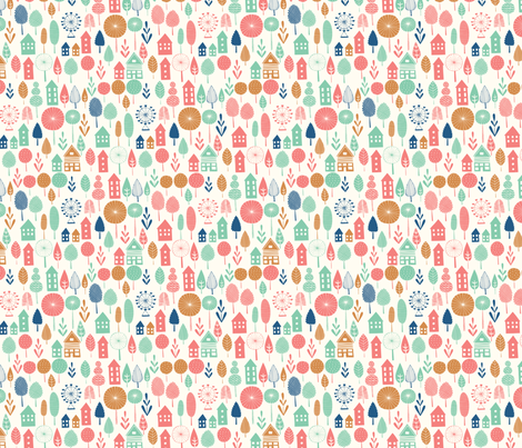 little summer village fabric by bethan_janine on Spoonflower - custom fabric