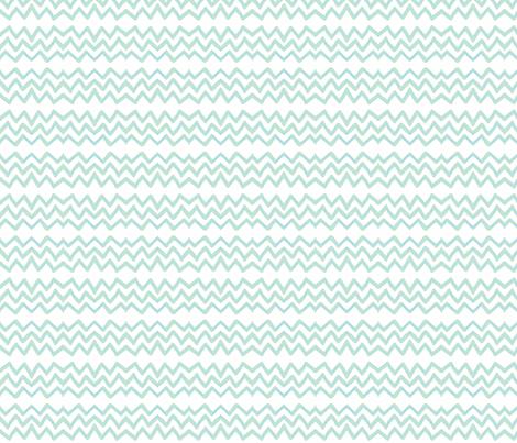 Zig Zag (light aqua & blue) fabric by pattyryboltdesigns on Spoonflower - custom fabric