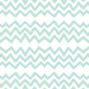 Zig Zag (light aqua & blue)