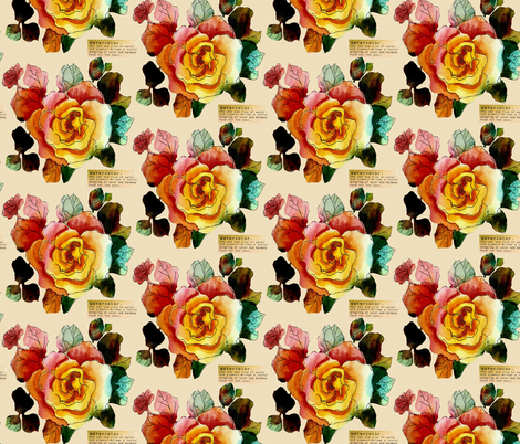 A_Rose_is_a_Rose_half_drop fabric by lana_gordon_rast_ on Spoonflower - custom fabric