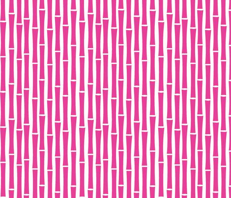 Bamboo Too (Fucshia) fabric by blackpomegranate on Spoonflower - custom fabric