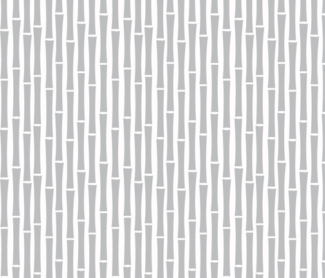 Bamboo Too (Grey) fabric by blackpomegranate on Spoonflower - custom fabric