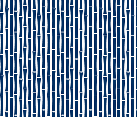 Bamboo Too (Navy)-ch fabric by blackpomegranate on Spoonflower - custom fabric