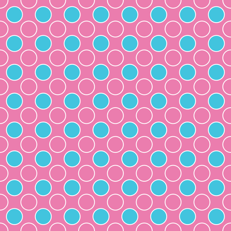 Beanie Aqua Spot fabric by shelleymade on Spoonflower - custom fabric