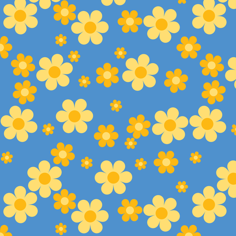 Beanie Daisies fabric by shelleymade on Spoonflower - custom fabric