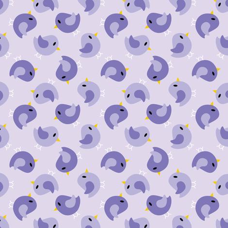 Beanie Purple Birds fabric by shelleymade on Spoonflower - custom fabric