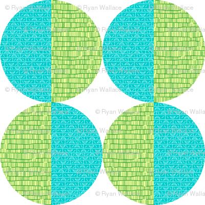 Blue-Green Circles