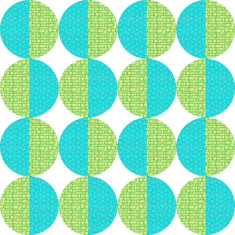 Blue-Green Circles fabric by toothpanda on Spoonflower - custom fabric