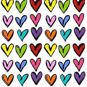 Colorful Hearts