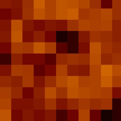 pixel pumpkin fabric by paragonstudios on Spoonflower - custom fabric