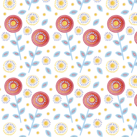 Candyflower-SunnyDay | alexcolombo.com fabric by studioalex on Spoonflower - custom fabric