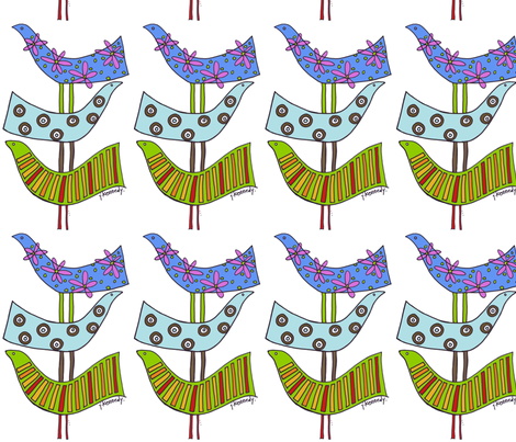 Stacked Birds fabric by jen_kennedy on Spoonflower - custom fabric