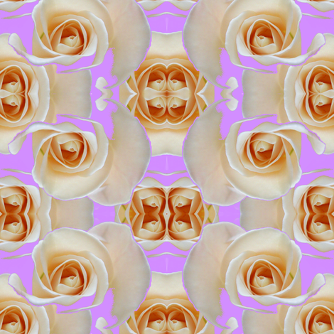 RoseOnLavenderEllipse_Cloned-ed fabric by carmenscottagecreations on Spoonflower - custom fabric