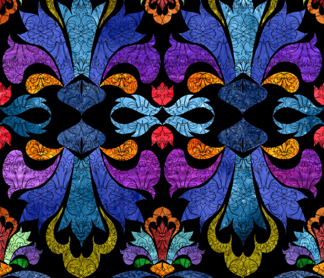 redo_damask_colors_test-01_for_sf fabric by vo_aka_virginiao on Spoonflower - custom fabric