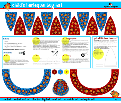 Harlequin Bug Hat fabric by bippidiiboppidii on Spoonflower - custom fabric