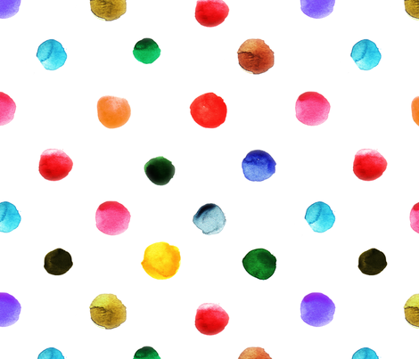 pois_d_aquarelle fabric by nadja_petremand on Spoonflower - custom fabric