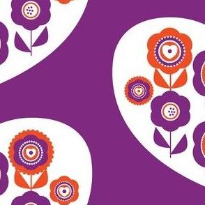 graphic flower heart purple