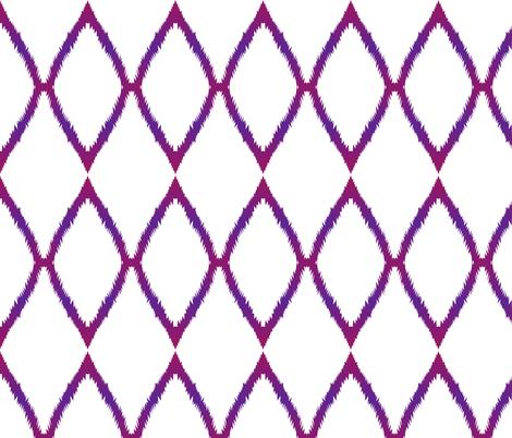 Purple Ikat Chevron fabric by megankaydesign on Spoonflower - custom fabric