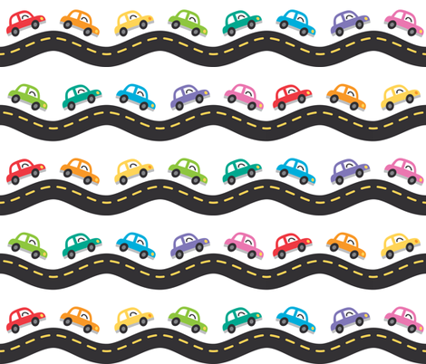Cars fabric by petitspixels on Spoonflower - custom fabric