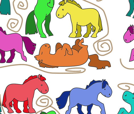 horseofadifferentcolor fabric by suziwollman on Spoonflower - custom fabric
