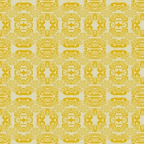 Coral Tile Yellow Linen