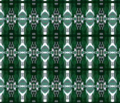 Green Glass Stripes fabric by zsmama on Spoonflower - custom fabric