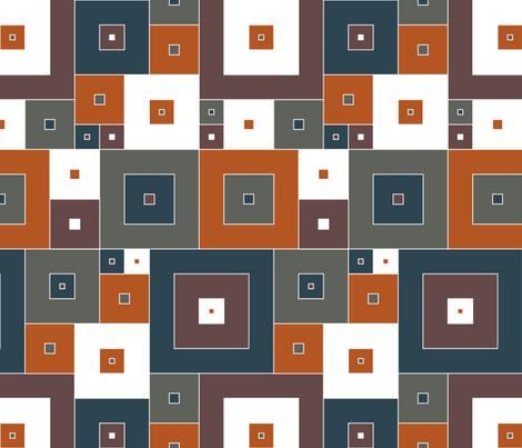 Italian Boxes - light fabric by ormolu on Spoonflower - custom fabric