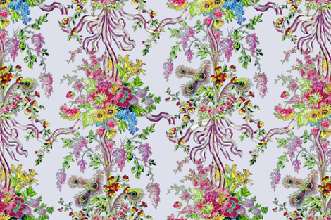 Rococo: Marie Antoinette's Boudoir - Embroidered fabric by bonnie_phantasm on Spoonflower - custom fabric