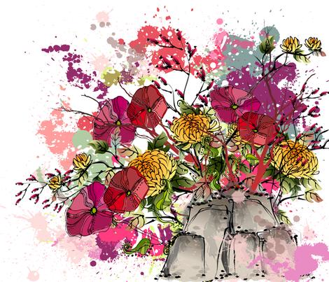 ZEN GARDEN fabric by deeniespoonflower on Spoonflower - custom fabric