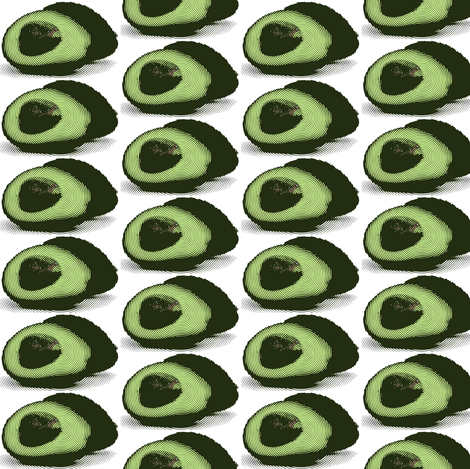 avocado pattern fabric by romi_vega on Spoonflower - custom fabric