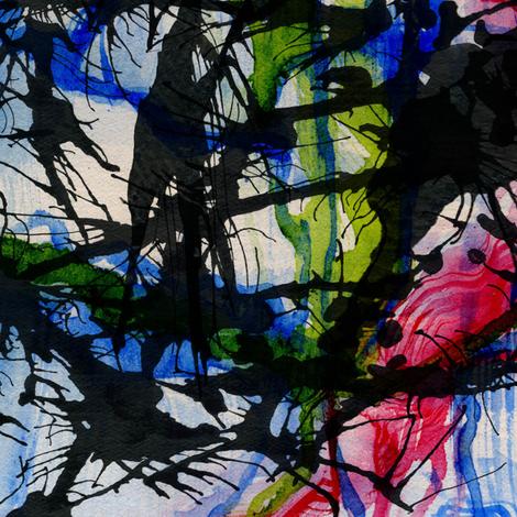 Spoonflower_blue_Ink fabric by worldwidedeb on Spoonflower - custom fabric