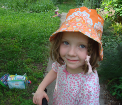 Two Kids' Reversible Summer Hats