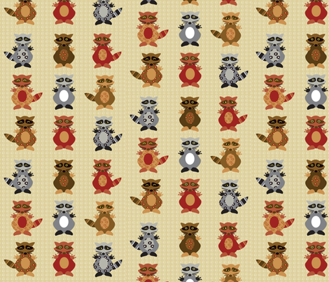A Racoon patch fabric by amy_frances_designs on Spoonflower - custom fabric