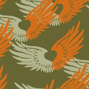 Heartwings: Tangerine, Beige, Olive