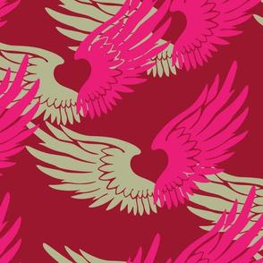 Heartwings: Pink, Beige