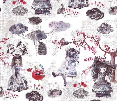 My wonderland fabric by katarina on Spoonflower - custom fabric