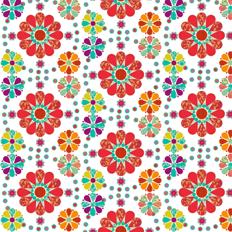 lovely_flowers-ch-ch fabric by snork on Spoonflower - custom fabric