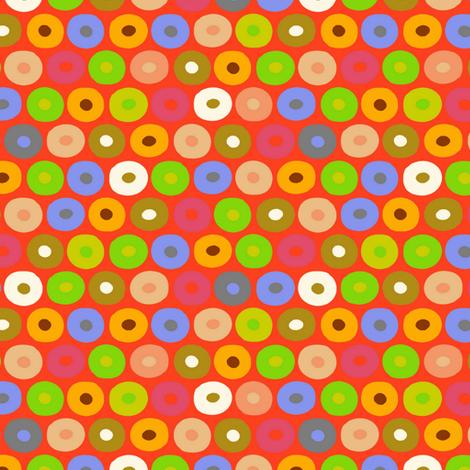 felt monkey polka fabric by scrummy on Spoonflower - custom fabric