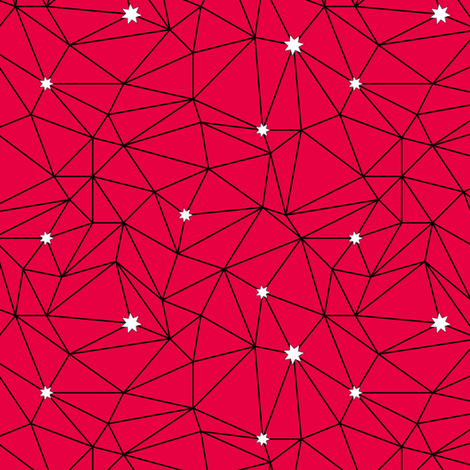 constellations - red fabric by ravynka on Spoonflower - custom fabric