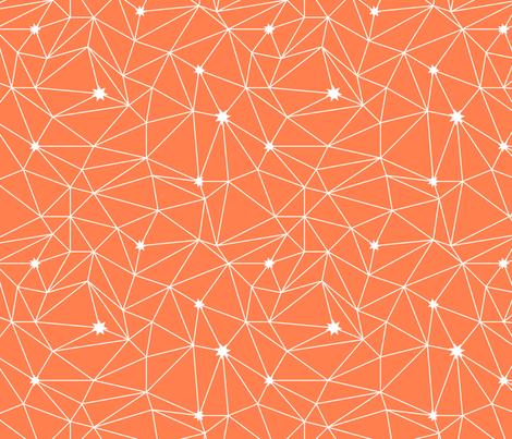 constellations - orange fabric by ravynka on Spoonflower - custom fabric