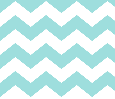 chevron lg light teal fabric by misstiina on Spoonflower - custom fabric