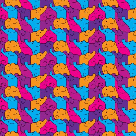 Pink Elephant Jigsaw fabric by ebygomm on Spoonflower - custom fabric
