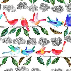 amour d'oiseau sur la branche