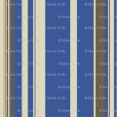 Blue Mud Linen Stripe